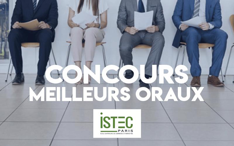 Concours Meilleurs Oraux ISTEC 2019