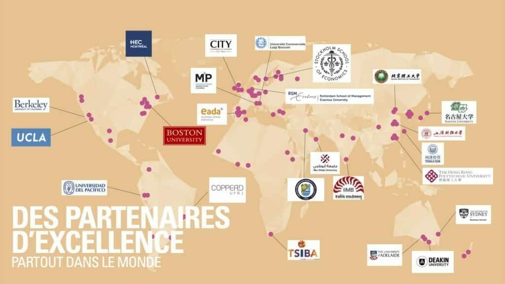 Audencia partenaires internationaux